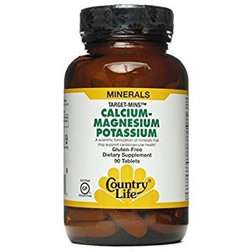 (Country Life Cal-Mag-Potassium Target-Mins, 90 Tabs by Country)
