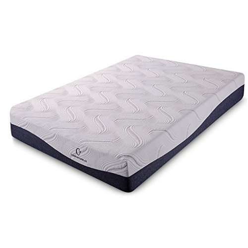 Cr Comfort & Relax HK11-TWIN Memory Foam Mattress, Twin(387411), White