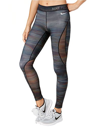 Nike Pro Winter Tight - NIKE Women's Pro Hypercool Printed Leggings (Small, Black/White)