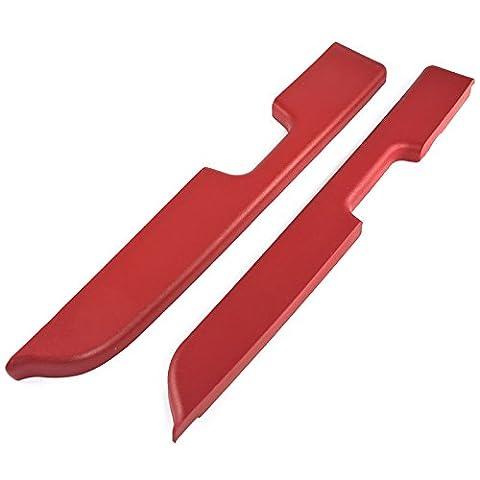 1987-1993 Mustang Red Door Arm Rest Pads for Power Windows - Pair - Mustang Door Armrest Pad