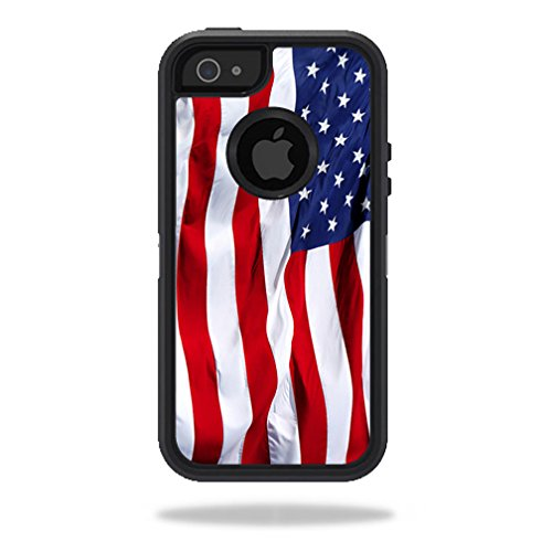 uk availability 45490 26d09 MightySkins Skin Compatible with OtterBox Defender iPhone 5s case -  American Flag | Protective, Durable, and Unique Vinyl Decal wrap Cover |  Easy to ...