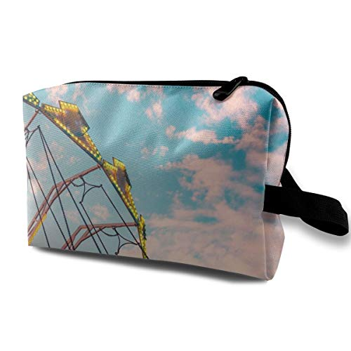 Yunshm Colorful Carousel Swing Ride Customized Cosmetic Storage Bag Large Capacity Woman for Travel Carry Bag