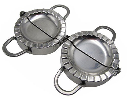 Stainless Steel Ravioli/Pierogi/Dumpling Mold Maker Wrapper Pastry Dough Cutter L+S Size (4'' x 2pcs) by STARDICE