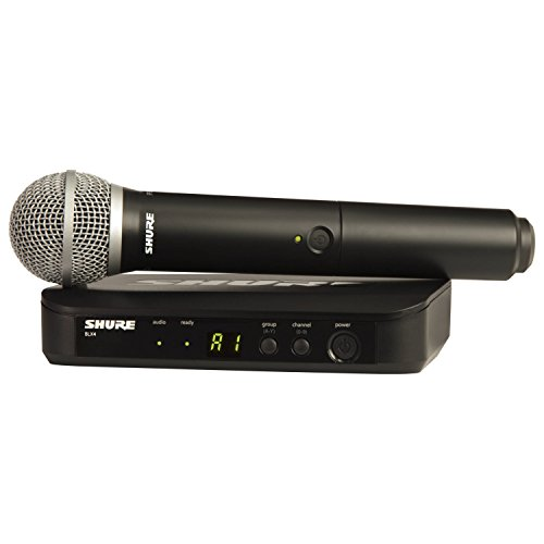 Shure BLX24/PG58 H10 FREQ PG58 Vocal Wireless System w/BLX4 Receiver and HH PG58 Mic (Shure Wireless Receiver)