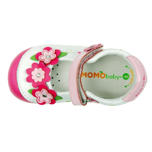 First Momo Sparkle Shoes Girls Leather Walker Baby Jane White Toddler Floral Mary EpTpq