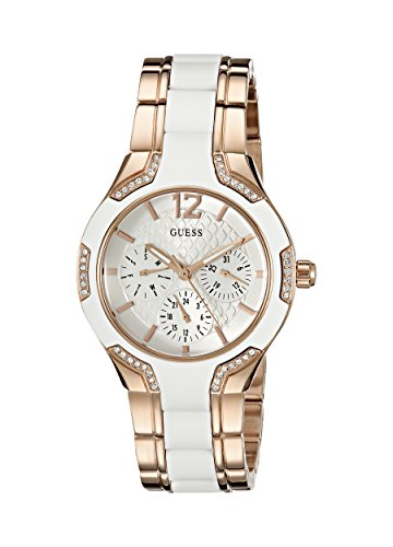 GUESS Womens U0556L3 Gold Tone Crystal Accented