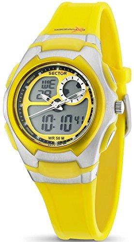 Sector R3251172039 - Reloj digital para mujer, correa de poliuretano color amarillo: Amazon.es: Relojes