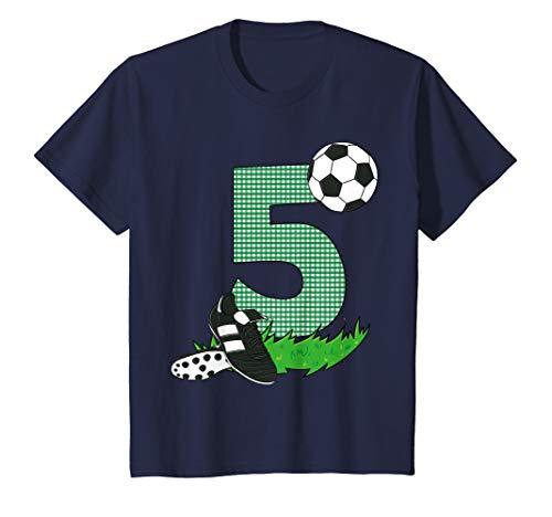 Kids 5th Birthday T-Shirt Boys Soccer Football Gift Birthday