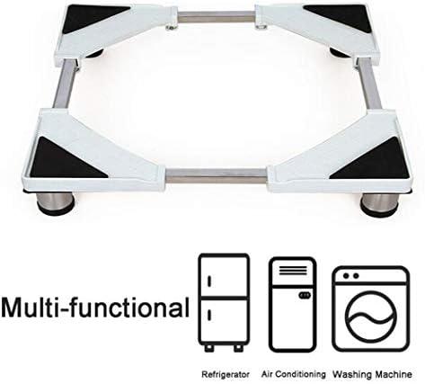XMZFQ Waschmaschinensockel Verstellbarer erhöhter Edelstahl Multifunktionale haltbare Halterung für Wäschetrockner, Herde, Kühlschrank,17cm