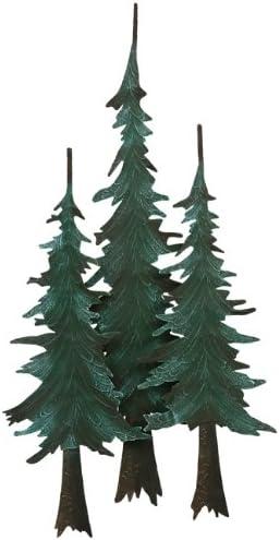 BLACK FOREST DECOR Metal Pine Tree Wall Sculpture