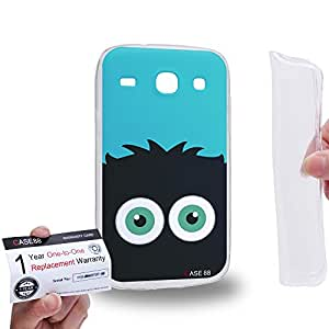 Case88 [Samsung Galaxy Core i8260 / i8262] Gel TPU Carcasa/Funda & Tarjeta de garantía - Art Drawing Fashion Black Fuzzballs
