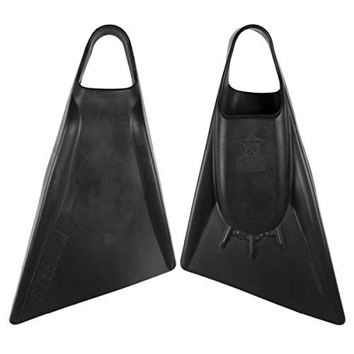 STEALTH Swim Fins - Choose Color and Size (S2 Black, 4.5-6 (Small))