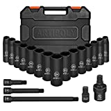 "ARTIPOLY 1/2"" Drive Deep Impact Socket Set, 20pcs"