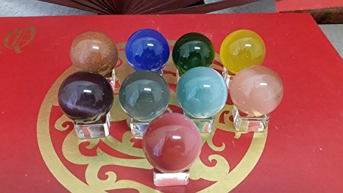 (Beautiful Solid Leaded Crystal Balls with Crystal Display Stand, Buy 1 Get 1 Free Promotion)