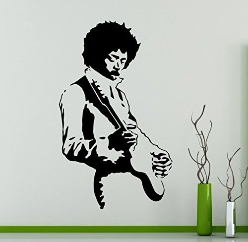 Jimi Hendrix Guitarist Wall Decal Rock Vinyl Sticker Rock and Roll Home Decor Ideas Living Room Interior Removable Wall Art -