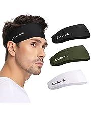 Unisex Sport Hoofdband - Heren Hoofdzweetbanden voor training, hardlopen, basketbal, oefening, gym, fietsen, voetbal, tennis, yoga, brede stretch vocht afvoerende haarband