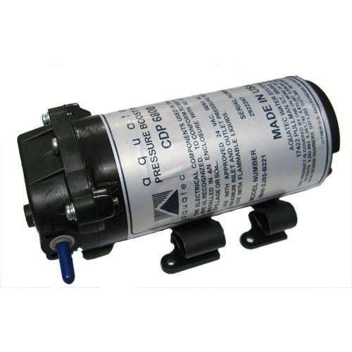 Aquatec 6800 Series RO Booster Pump for up to 50 GPD 1/4''JG 24 VAC 6840-2J03-B221S by Aqua Tec