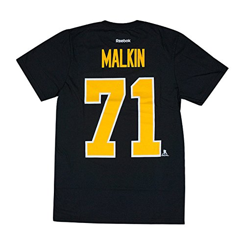 Reebok Men's Pittsburgh Evgeni Malkin #71 Player Replica Alternate T-Shirt (M)