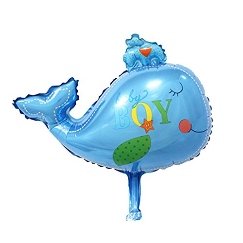 [1pcs/lots Baby Boy Little Fish Ocean Helium Inflable Giant Foil Balloons Birthday Event Party Decoration] (Beauty And The Beast Costume Little Girl And Dog)