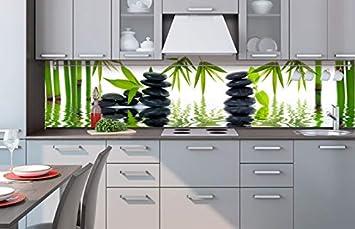 Küchenrückwand Folie selbstklebend ZEN STEINE 260 x 60 cm ...