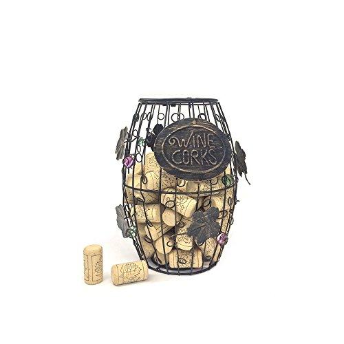 Mind Reader Wine Barrel Cork Holder, Wine Cork Holder, Cork Storage, Bronze