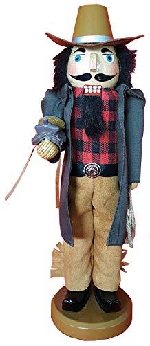 Santa's Workshop Leather Duster Cowboy Nutcracker 14