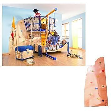 Bett Piratenkogge - Kletterwand: Amazon.de: Baby