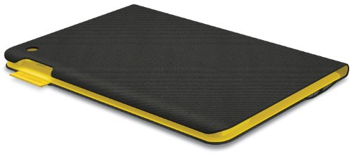 Logitech Fabric Skin Keyboard Folio for iPad Air, Urban Grey/Yellow