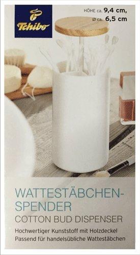 TCM Tchibo Wattestäbchen Spender Halter Box Behälter Wattepads Aufbewahrung