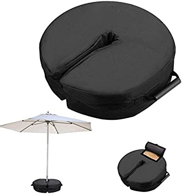 N//Y Round Umbrella Base Weight Bag,600D Heavy Duty Umbrella Weights Sand Bag,Parasol Stand Bag for Patio Beach Outdoor Cantilever Offset or Flagpole,Up to 90 lbs