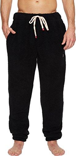 Original Penguin Men's Fleece Lounge Pant, True Black, - Pants Fleece Lounge