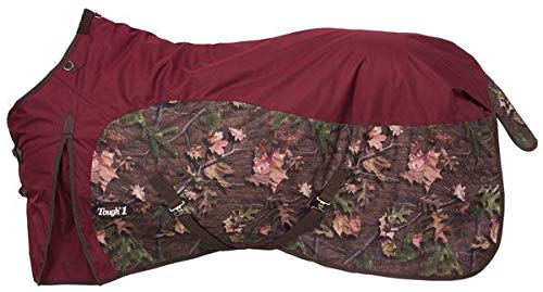 - Tough-1 600D Camo Turnout Sheet 75 Burgundy