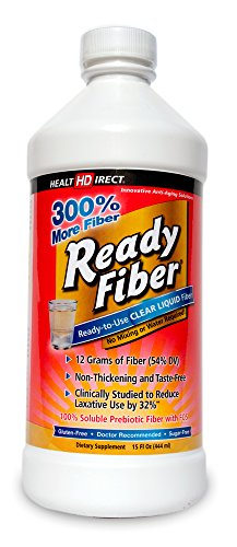 Ready Fiber Prebiotic Liquid Fiber Supplement (12g Strength, 15 Fl Oz) from Health Direct