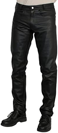 Roleff Pantalón de Cuero Racewear, Negro, 46