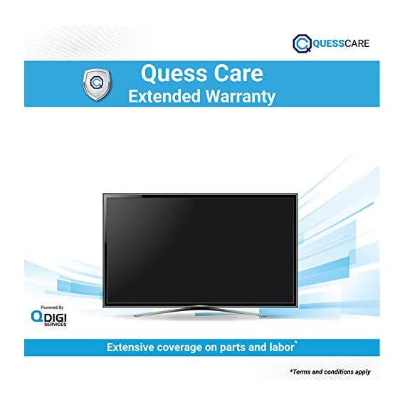 Quess 2 Year Care Plan (2 Year Extended Warranty Plan Post Expiry of 1st Year of Manufacturer Warranty) for TV Between