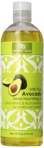 Beauty Aura 100% Pure Avocado Oil - 16 Fl Oz
