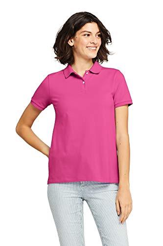 Lands' End Women's Mesh Cotton Short Sleeve Polo -