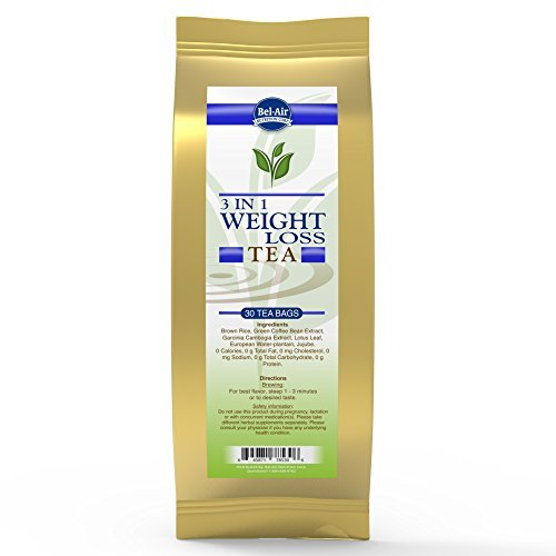 Longevity 3 in 1 Weight Loss Herbal Tea with Garcinia Cambogia & Green Coffee Bean Extract, teabags, 30 count package by Longevity Premier Nutraceuticals (3 In 1 Green Coffee Bean compare prices)