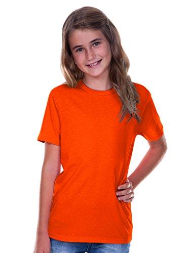 Kavio! Youth Crew Neck Short Sleeve Tee Jersey (Same YJC0263) Varsity Orange XL -