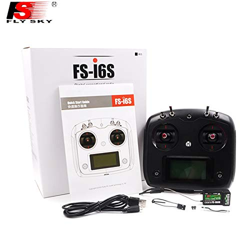 Parts & Accessories Flysky Fs I6S Remote Controller 2.4G 6Ch Radio Transmitter Ia6B Ia10B Receiver Tx&Rx For Rc Heli Quadcopter Multirotor Drone - (Color: Black I6S)