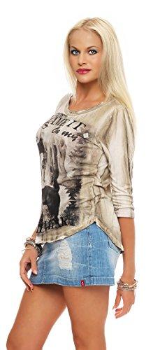 Key Largo Damen T-Shirt Langarmshirt RICH round