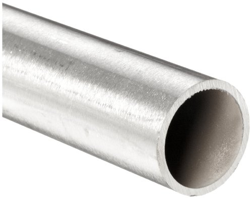 "Stainless Steel 316L Seamless Round Tubing, 5/8"" OD, 0.385"" ID, 0.120"" Wall, 12"" Length"