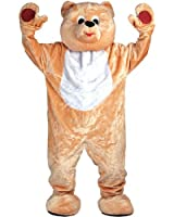 Giant Deluxe Teddy Bear Mascot - Adult Costume Adult - One Size