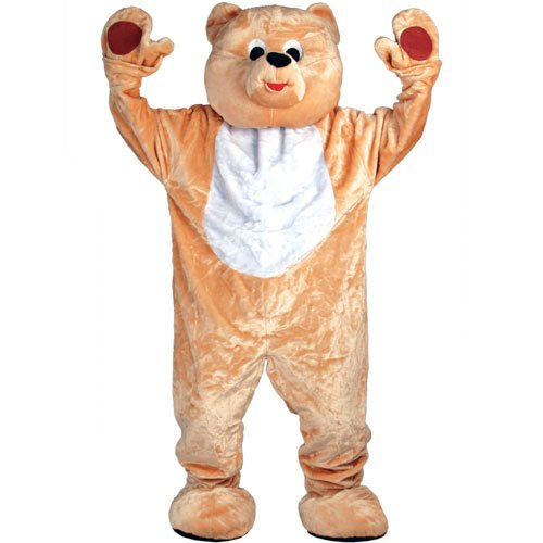 Giant Deluxe Teddy Bear Mascot - Adult Costume Adult - One Size Wicked
