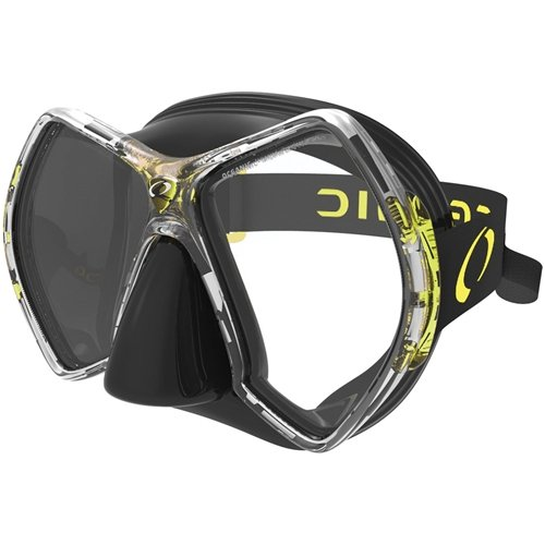 Oceanic Cyanea Ultra Scuba Mask - Clear Lens - Black/Yellow