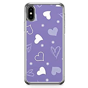 Loud Universe Case for iPhone XS Max Transparent Edge Case Valentines Day Couples Love Heart Pattern iPhone XS Max Cover