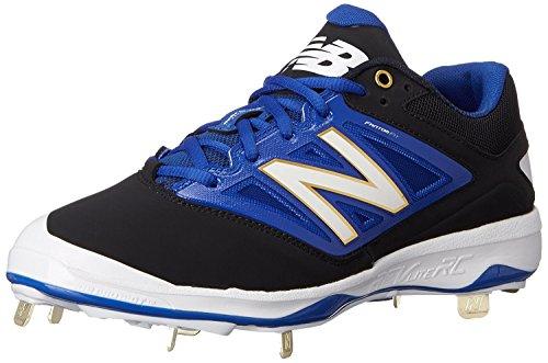 New Balance Mens L4040V3 Cleat Baseball Shoe, Negro/Azul, 50 D(M) EU/14.5 D(M) UK