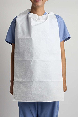 - MediChoice Patient Bibs, Tissue/Poly, Adult,16 x 32 Inch, White (Case of 300)