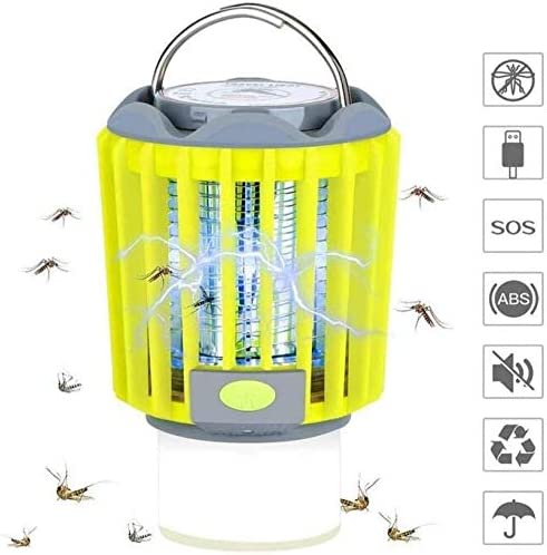 LIUDIEGE 電子モスキートキラーランプ、ライトモスキートトラップ、フライザッパー昆虫キラー金庫ホーム、非毒性でバグザッパー
