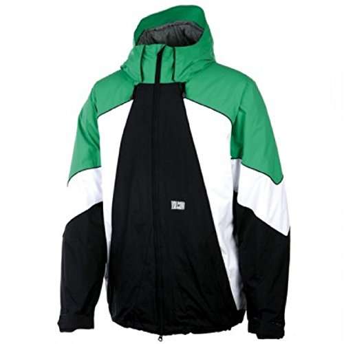 Volcom Blast Snowboarding Jacket Black/ Green/ White Mens...
